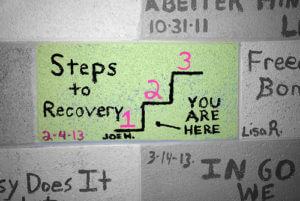 Steps to Recovery sign - testimonials