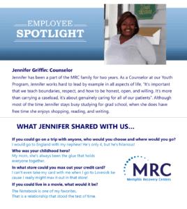 Employee Spotlight on Jennifer Griffin