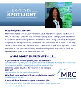 Employee Spotlight on Mary Rodgers