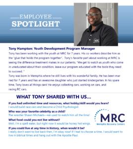 Employee Spotlight on Tony Hampton