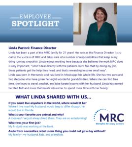 Employee Spotlight on Linda Pastori